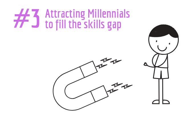 Attractign Millenials to fill the skills gap
