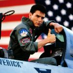 Tom Cruise as Maverick in Top Gun