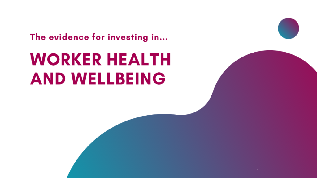 worker health and wellbeing